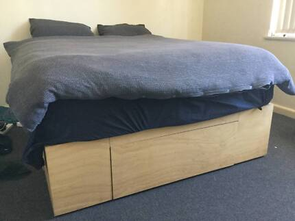 Hand Made Queen wooden bed base