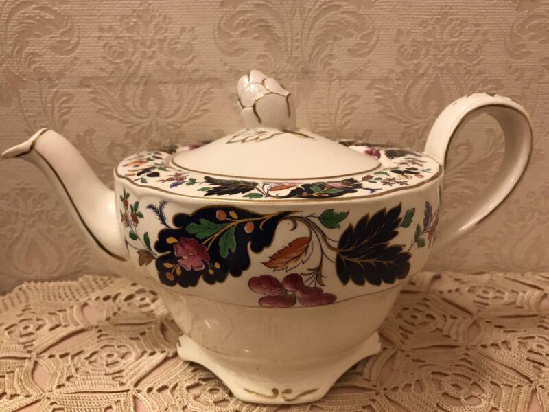 """GORGEOUS ANTIQUE GRINDLEY MIE ENGLAND TEA POT MARLBOROUGH """"ROYAL PETAL"""""""