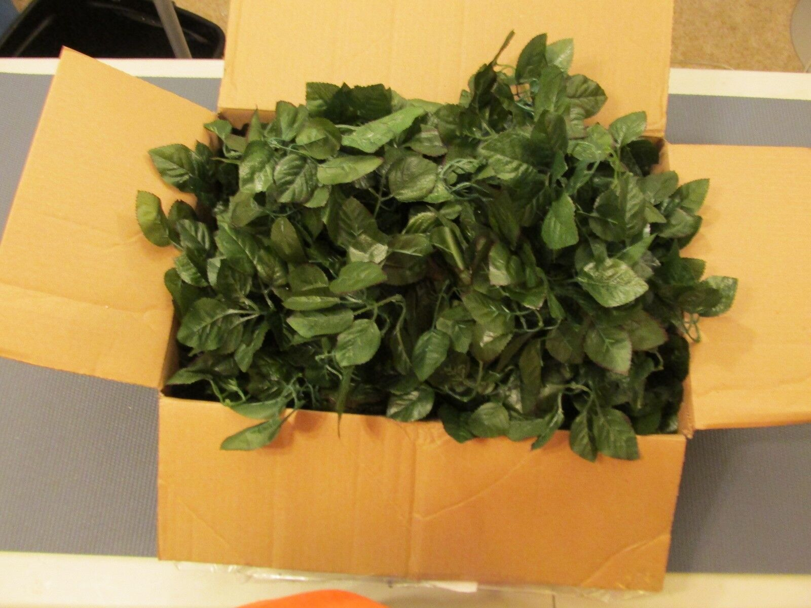 1440 Wholesale Artificial Leaf Fake Leaves Wedding Rose Silk Flower Craft DIY
