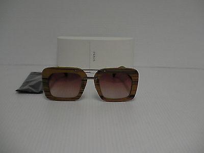 Womens Prada New sunglasses SPR 30RS wood frame brown lenses