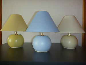Pair of Beautiful Ceramic-Look Touch Light Bedside Table Lamps