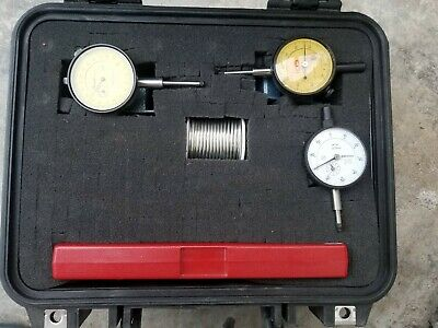 5 Piece Starrett Metric Caliper Dial Incator And Micrometer Tool Kit