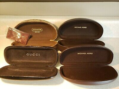 Coach eyeglass sun glasses hard case w/cloth Vintage Gucci Michael Kors LOT 4