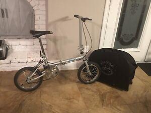 Roll n fold bike