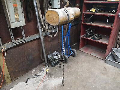 14 Ton Budgit Electric Chain Hoist Crane 115 Volts 1ph Single Phase 115v 120v