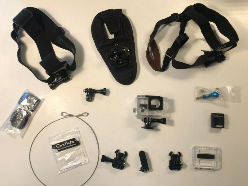 GoPro Hero 3/3+/4 Waterproof Diving Housing Surfing Protective Case + Bundle