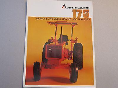 Allis Chalmers 175 Gas Diesel Tractor Dealer Sales Brochure Manual More Listed