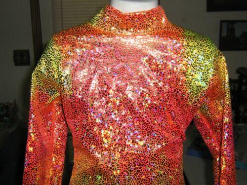 pink yellow shine western rail horsemanship shirt leadline, girls-- xs S M L xl