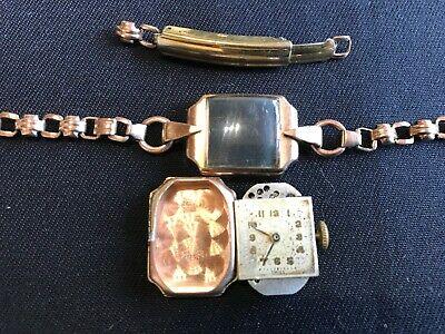 Vintage 9ct solid gold rectangular watch (Scrap?) - Lot 3