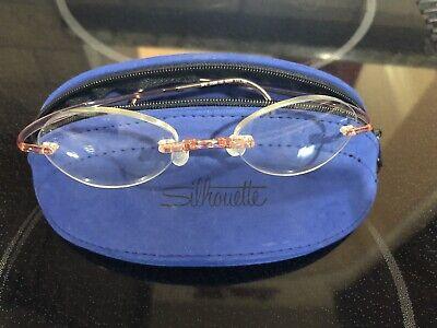 Silhouette Rimless Rx Eyeglasses Frames Pink Childrens SPX 2500 00  6060 (Silhouette Kids Glasses)