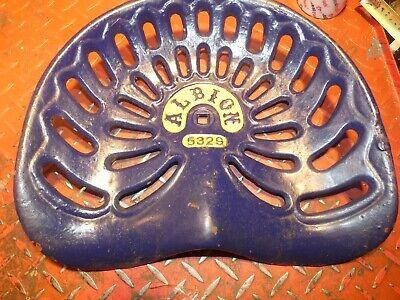 Albion 5329 Vintage Antique Cast Iron Tractor Farm Implement Seat