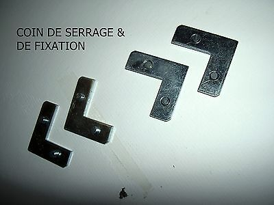 ACCESSOIRES    ENCADREMENT     ALU    COINS de SERRAGE & FIXATION   11mm 12 pcs