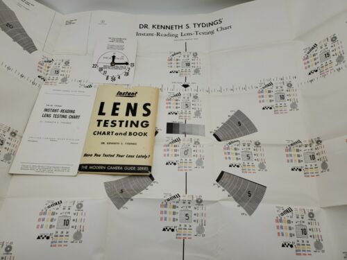 1959 Instant Reading Lens Testing Focus Chart & Book by Dr. Kenneth S. Tydings