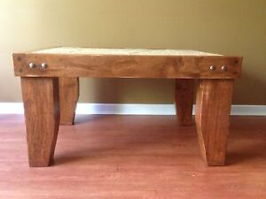Coffee Table - Maple with Stone inlay