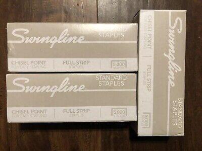 Swingline Staples Standard Chisel Point 0.25 Inch Leg Length 5000 Per Box