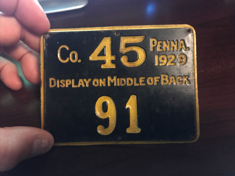 1929 PA Pennsylvania Hunting License Monroe County Game Commission