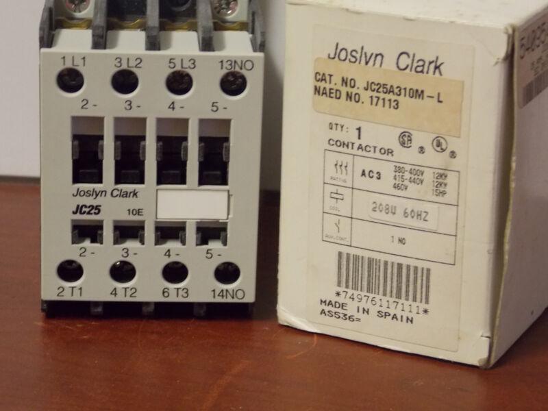 Joslyn Clark LEC Open Contactor 208V 25Amp #JC25A310M-L