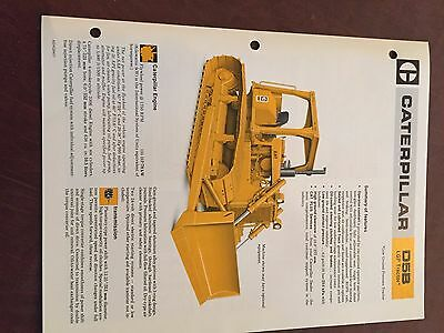 Caterpillar Cat D5b Crawler Dozer Lgp Brochure Original Antique Tractor