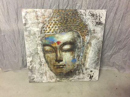 Gorgeous hand painted buddha canvas