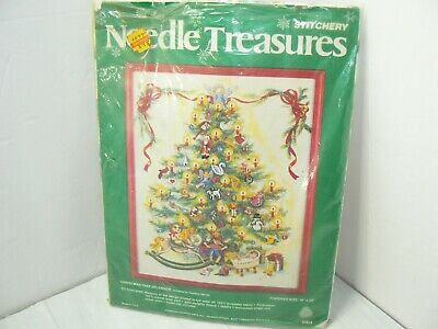 NEEDLE TREASURES CHRISTMAS TREE SPLENDOR KIT NOP # -