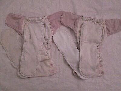 Lot 2 GroVia AIO All In One Cloth Diapers with Snap-in Boosters Cosmos Pink