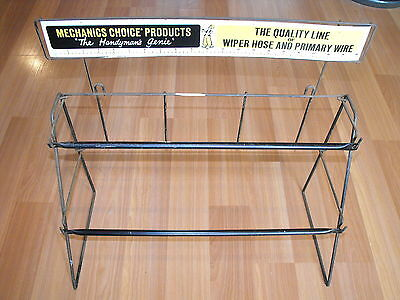 Vtg Mechanics Choice Products Wiper Hose Primary Wire Metal Hardware Display