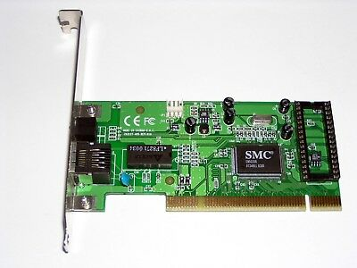 PCI Fast Ethernet Adapter Accton EN-1207D-TX, SMC EN5030B, RJ45, gebraucht