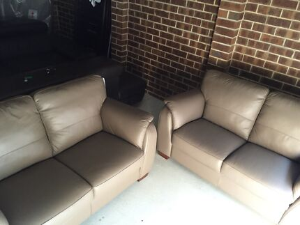 2 x 2 seater brown sofa lounges Dandenong Greater Dandenong Preview
