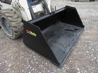 Bobcat Skid Steer Attachment 72 Snow Mulch Litter Smooth Bucket - Ship 199