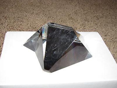 "STEUBEN ""Star Crystal"" Glass Crystal Paperweight 5"" x 5"" x 2.5"" 8076 D. Pollard"