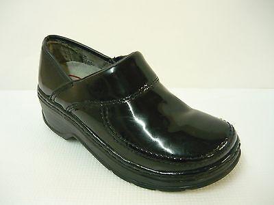 Klogs Footwear Mission Clogs Black Patent Sz 6M