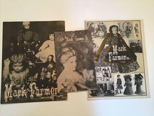 Vtg MARK FARMER CO INC Dolls, Toys, Books, Miniatures 1960s CATALOG lot