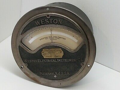 Vintage Antique Weston Electrical Instrument Co Dc Voltmeter Model 24