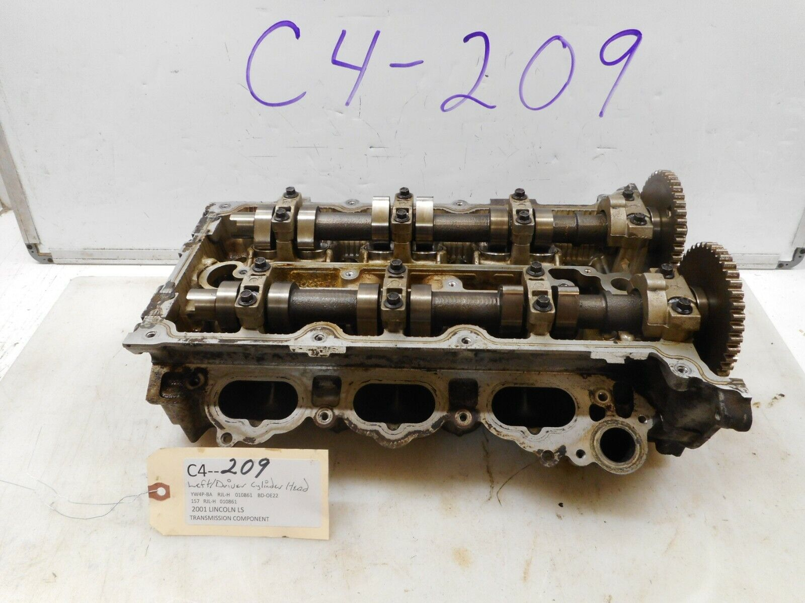 LINCOLN LS 2003 2004 2005 2006 V8 3.9 ENGINE LEFT DRIVER CYLINDER HEAD CAMSHAFTS