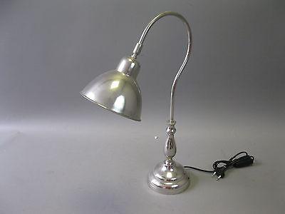 Lampada banchiere da tavolo scrivania Banker 50 cm argento