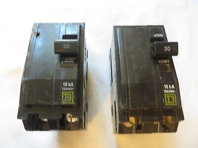 Square D Circuit Breaker Type Hacr 30 Amp 2 Pole 120240v Tested Lot Of 2