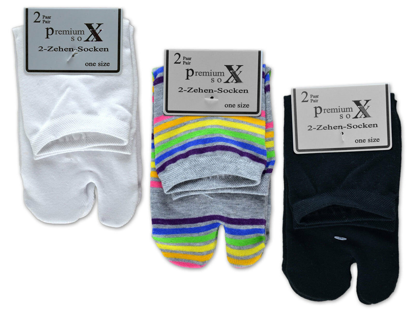 6 oder 12 Paar Zwei Zehensocken für Flip Flops Tabi Socken Damensocken