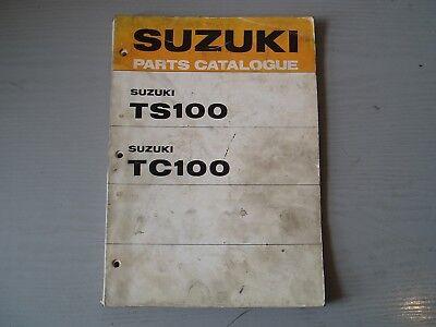 SUZUKI TS100 K / L / TC100 K / L PARTS MANUAL