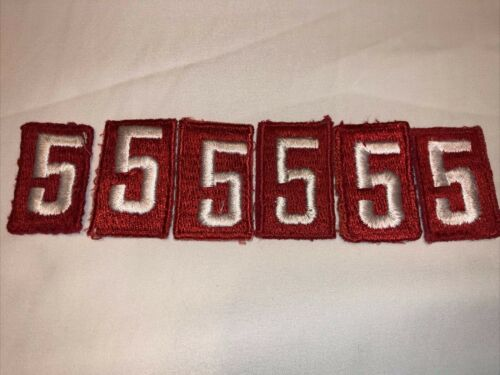official scout troop numbers white on red