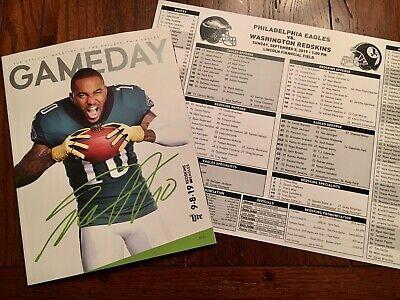 PHILADELPHIA EAGLES Gameday + Media Card 9.8.19 Vs Washington Redskins Free Ship
