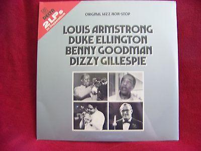 Original Jazz Non-Stop  Armstrong, Ellington, Goodman   D-LP   NEU OVP