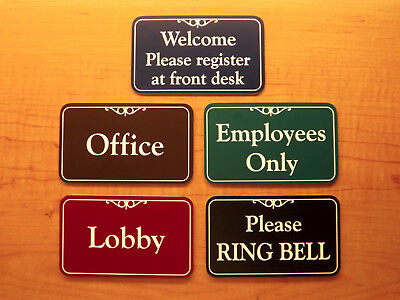 Personalized 3x5 Engraved Business Suite Sign Home Office Wall Door Placard