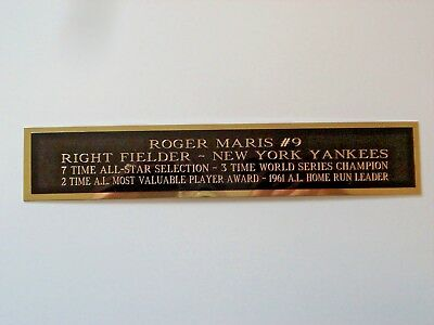 Roger Maris Yankees Autograph Nameplate For A Baseball Bat Case Or Photo 1.5 X 8