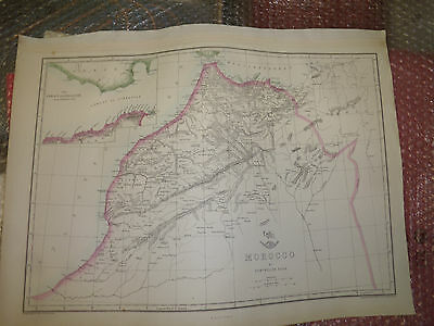 Morocco 1863 Dispatch Atlas- drawn / Engraved by E.Weller -30x42cmFramed 20 more