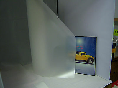 """WHITE MATTE FILM PRIVACY FOR ANYTHING FLAT GLASS 40"""" X 100 FT ROLL FROSTED TINT"""