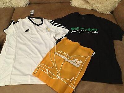 Climalite Performance T-shirt (Set: Adidas Mens ClimaLite Performance T-Shirt/ Trikot XL, JP Morgan Beutel, NEU)