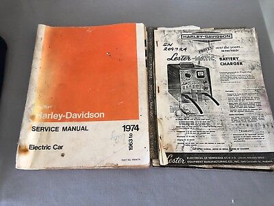 1963-1972 AMF Harley-Davidson Service Manual Electric Car Charger Photocopies