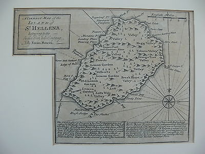 Saint Helena 1747 Copper-Engraved Map by Emanuel Bowen