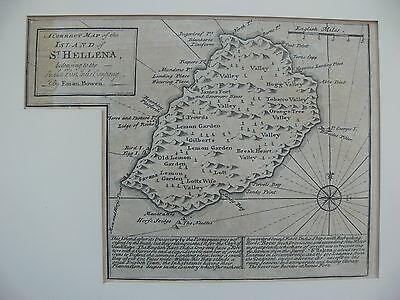 Saint Helena 1747 Copper-Engraved Map by Emanuel Bowen