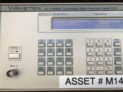 Wavetek 2410 0.01-1100MHz Synthesized Signal Generator